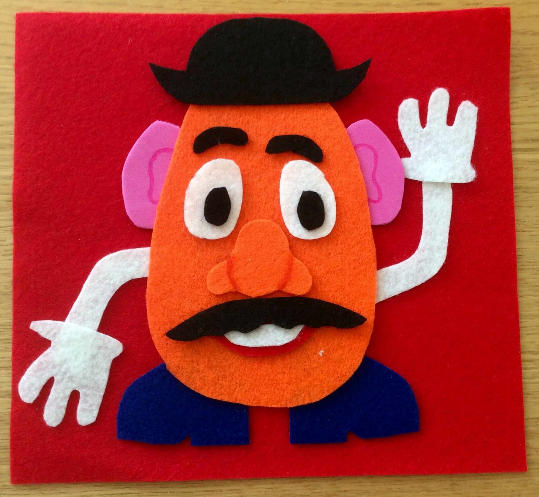 How to make a fuzzy felt card: